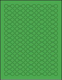 "Sheet of 1.375"" x 0.5"" True Green labels"