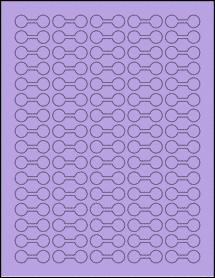 """Sheet of 1.375"""" x 0.5"""" True Purple labels"""