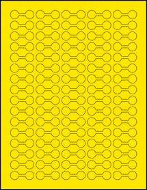 "Sheet of 1.375"" x 0.5"" True Yellow labels"