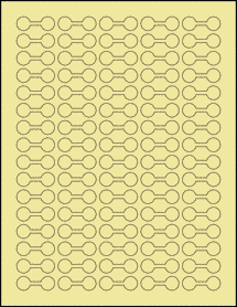 "Sheet of 1.375"" x 0.5"" Pastel Yellow labels"