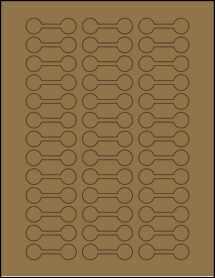 """Sheet of 2"""" x 0.625"""" Brown Kraft labels"""
