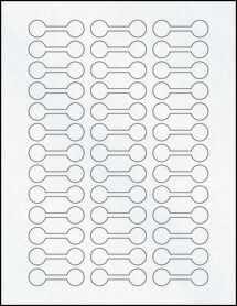 """Sheet of 2"""" x .625"""" Clear Matte Inkjet labels"""