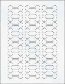 "Sheet of 2"" x .625"" Clear Matte Laser labels"
