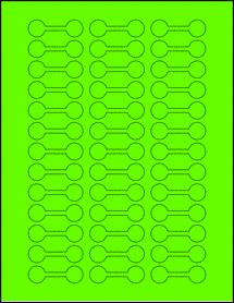 """Sheet of 2"""" x 0.625"""" Fluorescent Green labels"""