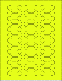 "Sheet of 2"" x 0.625"" Fluorescent Yellow labels"