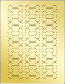 """Sheet of 2"""" x .625"""" Gold Foil Laser labels"""