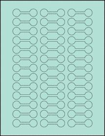 "Sheet of 2"" x 0.625"" Pastel Green labels"