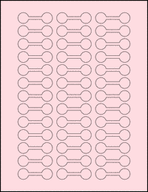 "Sheet of 2"" x 0.625"" Pastel Pink labels"
