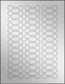 """Sheet of 2"""" x 0.62"""" Silver Foil Inkjet labels"""