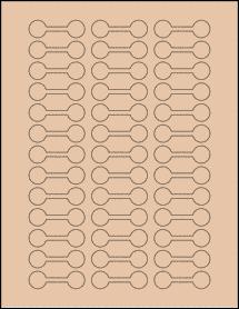 "Sheet of 2"" x 0.625"" Light Tan labels"