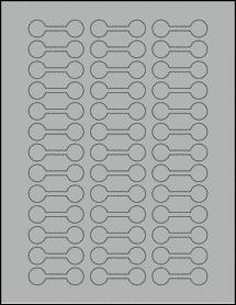 "Sheet of 2"" x 0.625"" True Gray labels"
