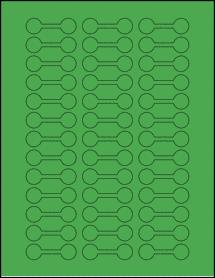 "Sheet of 2"" x 0.625"" True Green labels"
