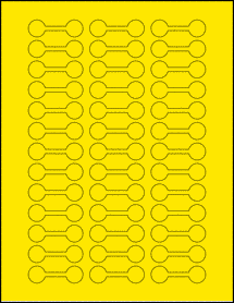 "Sheet of 2"" x 0.625"" True Yellow labels"