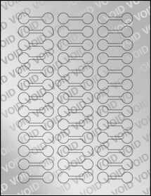 """Sheet of 2"""" x .625"""" Void Silver Polyester labels"""