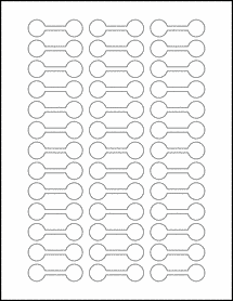 """Sheet of 2"""" x .625"""" Removable White Matte labels"""