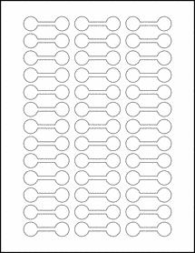 "Sheet of 2"" x .625"" Standard White Matte labels"