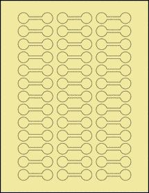 "Sheet of 2"" x 0.625"" Pastel Yellow labels"