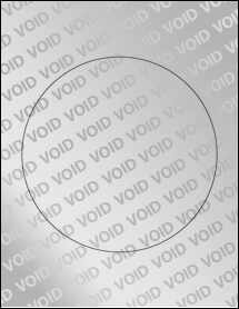 """Sheet of 7"""" Circle Void Silver Polyester labels"""