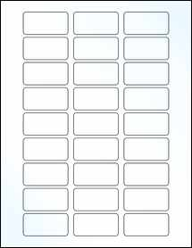 "Sheet of 2"" x 1"" Clear Gloss Laser labels"