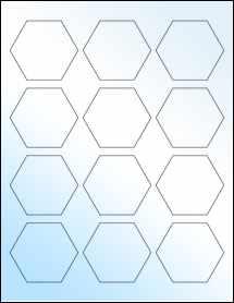 """Sheet of 2.5"""" x 2.1651"""" White Gloss Inkjet labels"""