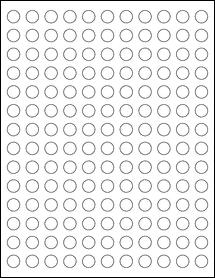 "Sheet of 0.5"" Circle Blockout for Laser labels"