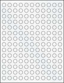 "Sheet of 0.5"" Circle Clear Matte Laser labels"