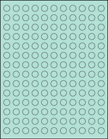 "Sheet of 0.5"" Circle Pastel Green labels"