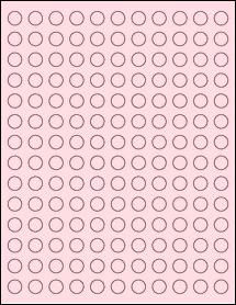 """Sheet of 0.5"""" Circle Pastel Pink labels"""