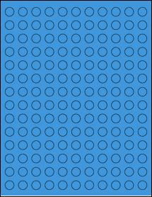 "Sheet of 0.5"" Circle True Blue labels"