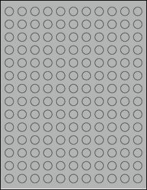 "Sheet of 0.5"" Circle True Gray labels"