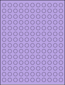 "Sheet of 0.5"" Circle True Purple labels"