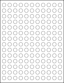 "Sheet of 0.5"" Circle Removable White Matte labels"