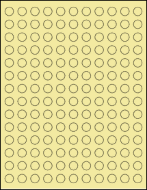 "Sheet of 0.5"" Circle Pastel Yellow labels"