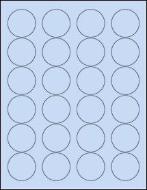 """Sheet of 1.67"""" Circle Pastel Blue labels"""