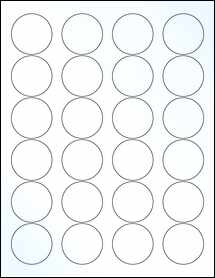 "Sheet of 1.67"" Circle Clear Gloss Laser labels"