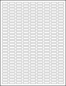 "Sheet of 0.75"" x 0.25"" Standard White Matte labels"