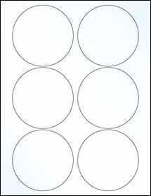 """Sheet of 3.5"""" Circle Clear Gloss Laser labels"""