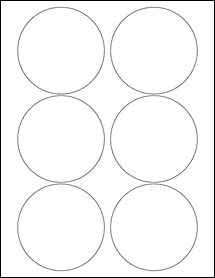 """Sheet of 3.5"""" Circle 100% Recycled White labels"""