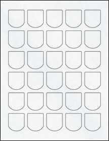 """Sheet of 1.25"""" x 1.375"""" Clear Matte Inkjet labels"""