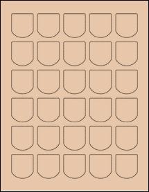 "Sheet of 1.25"" x 1.375"" Light Tan labels"