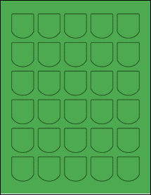 "Sheet of 1.25"" x 1.375"" True Green labels"