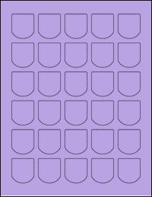 """Sheet of 1.25"""" x 1.375"""" True Purple labels"""