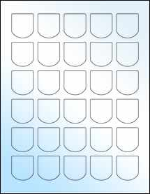"""Sheet of 1.25"""" x 1.375"""" White Gloss Laser labels"""