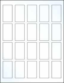 "Sheet of 1.25"" x 2.25"" Clear Gloss Inkjet labels"