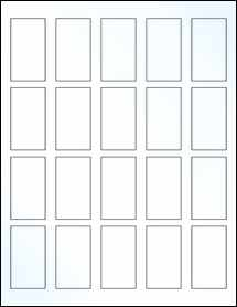 """Sheet of 1.25"""" x 2.25"""" Clear Gloss Laser labels"""