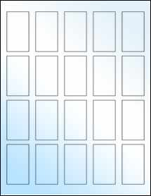"Sheet of 1.25"" x 2.25"" White Gloss Inkjet labels"