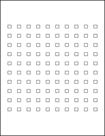 """Sheet of 0.28"""" x 0.25""""  labels"""