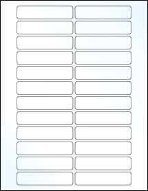 "Sheet of 3.25"" x 0.75"" Clear Gloss Inkjet labels"
