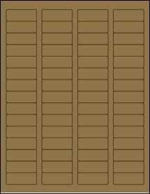 """Sheet of 1.75"""" x 0.666"""" Brown Kraft labels"""