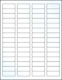 "Sheet of 1.75"" x 0.666"" Clear Gloss Laser labels"